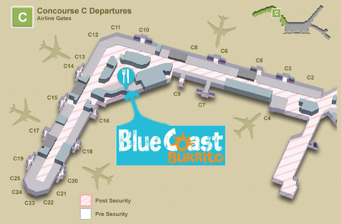 Blue Coast Nashville Airport Map