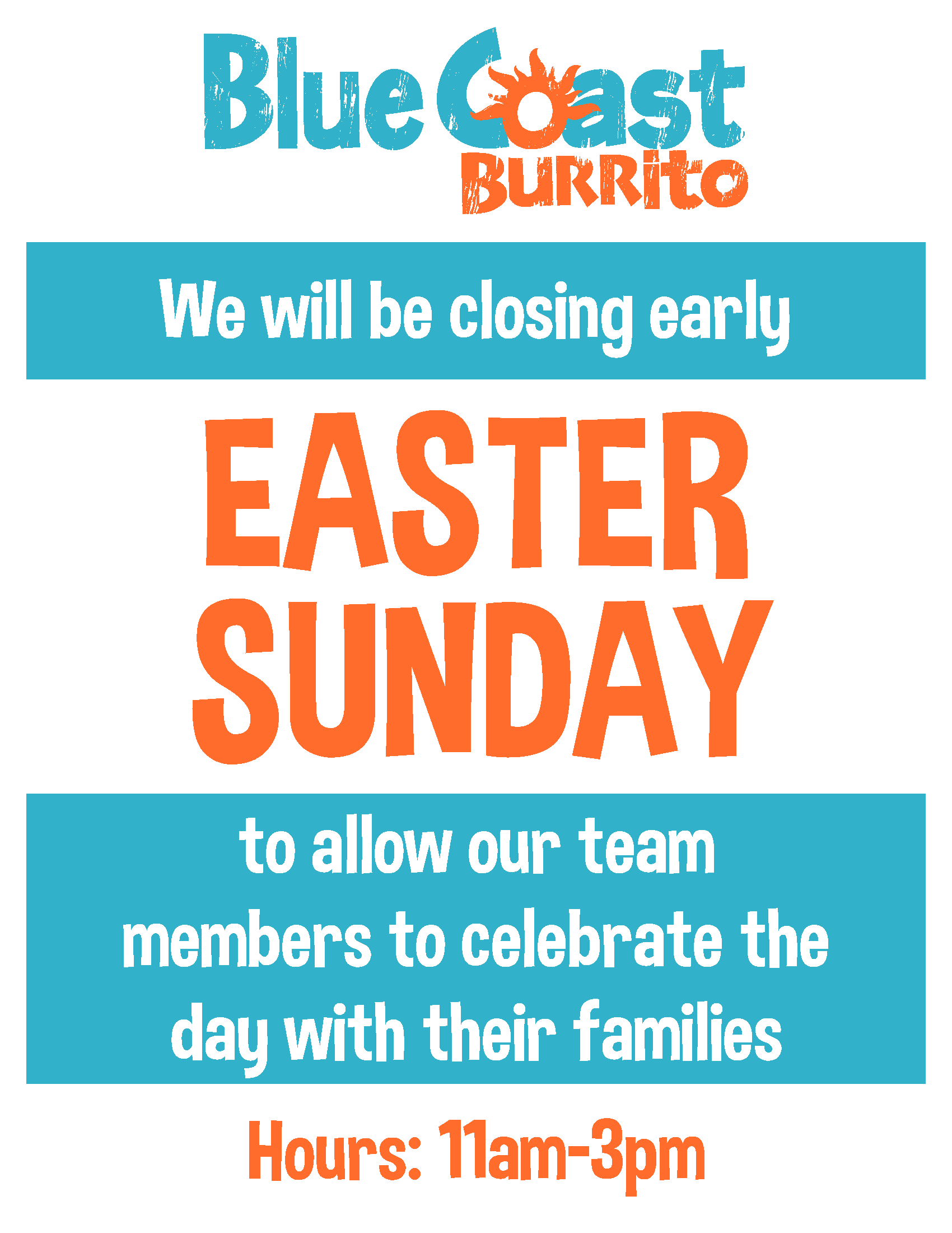 Easter Hours Sign
